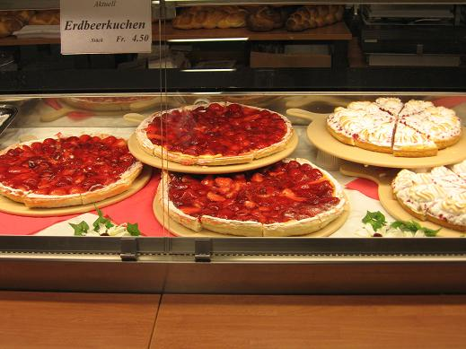 pies at grocery store by Hotel Illuster