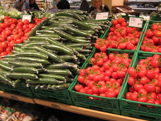 vegetables at grocery store by Hotel Illuster