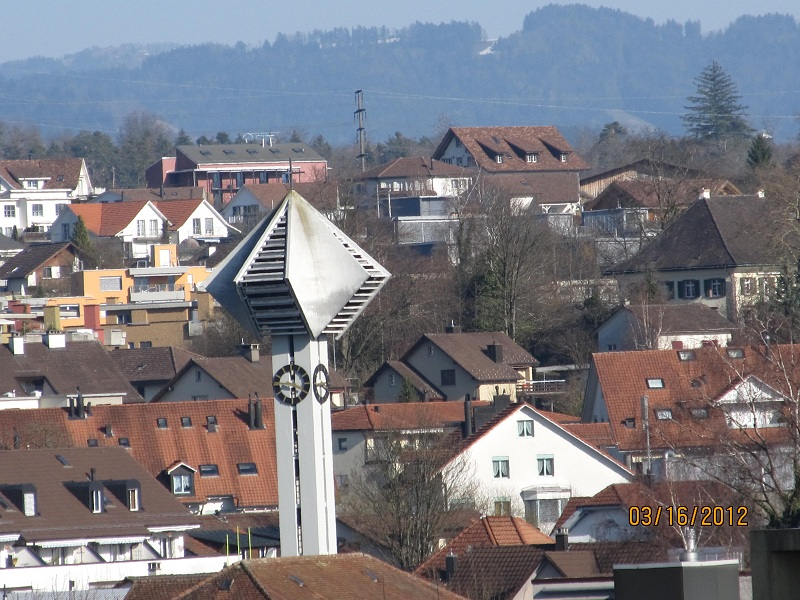 Church clock Tower - view from balcony