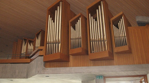 St. Andreas Catholic Church - pipes of the organ