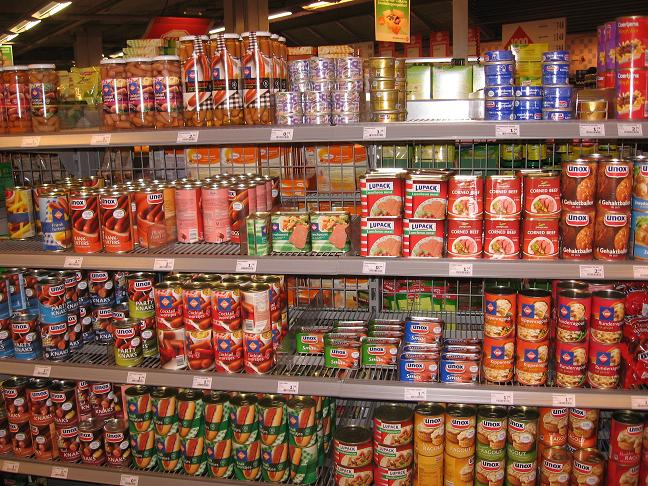 Grocery store-canned goods