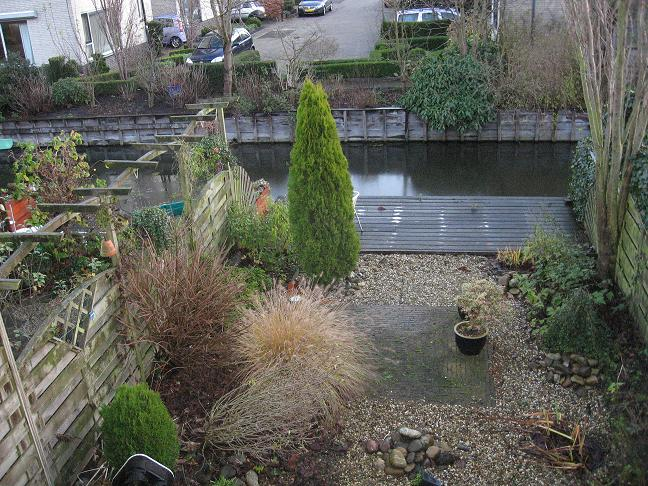 backyard with canal