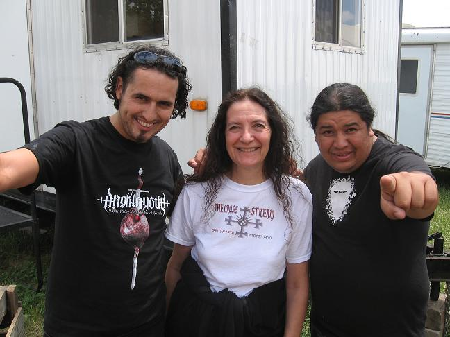 Cindy with Deborah fill-in drummer (Luis) and guitarist