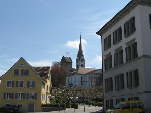 Goal for our walk - fortress and church - for great view of Uster.