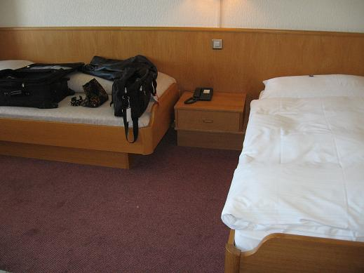 hotel room - extra bed
