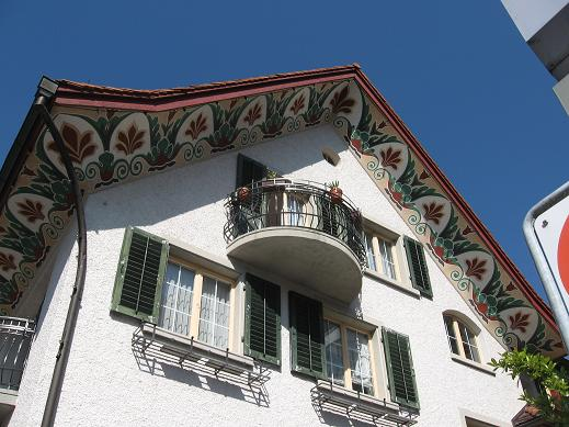 Uster - painted building