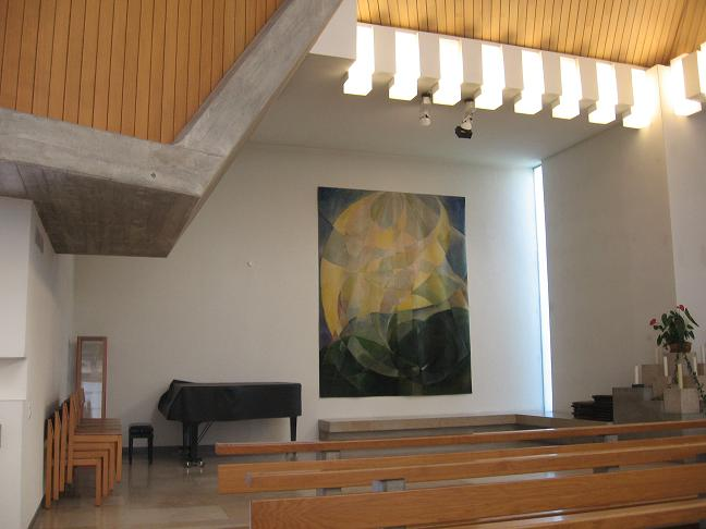 Inside of back of church
