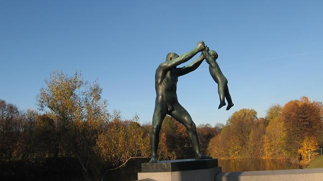 Vigeland Park - sculpture on side of bridge
