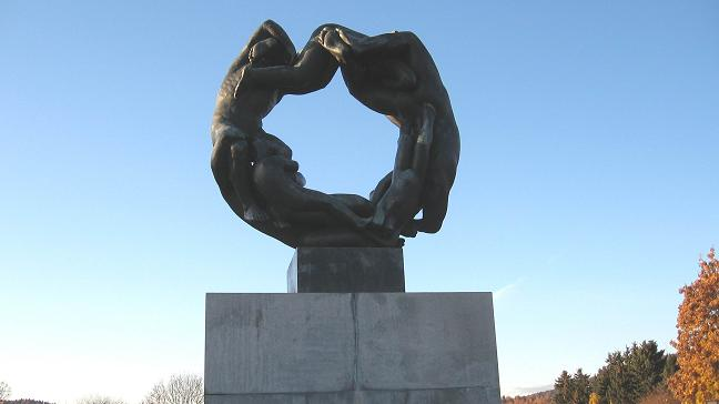 Vigeland Park -- the wheel of life