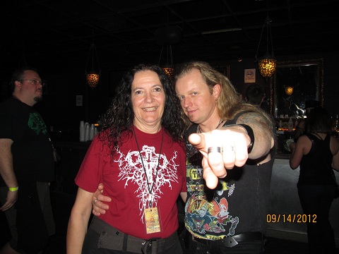 Cindy with Herbie Langhans (Sinbreed)